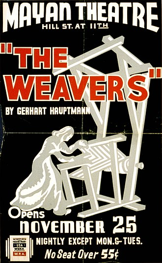 The Weavers (play) - Poster for a Federal Theatre Project presentation of The Weavers in Los Angeles (1937)