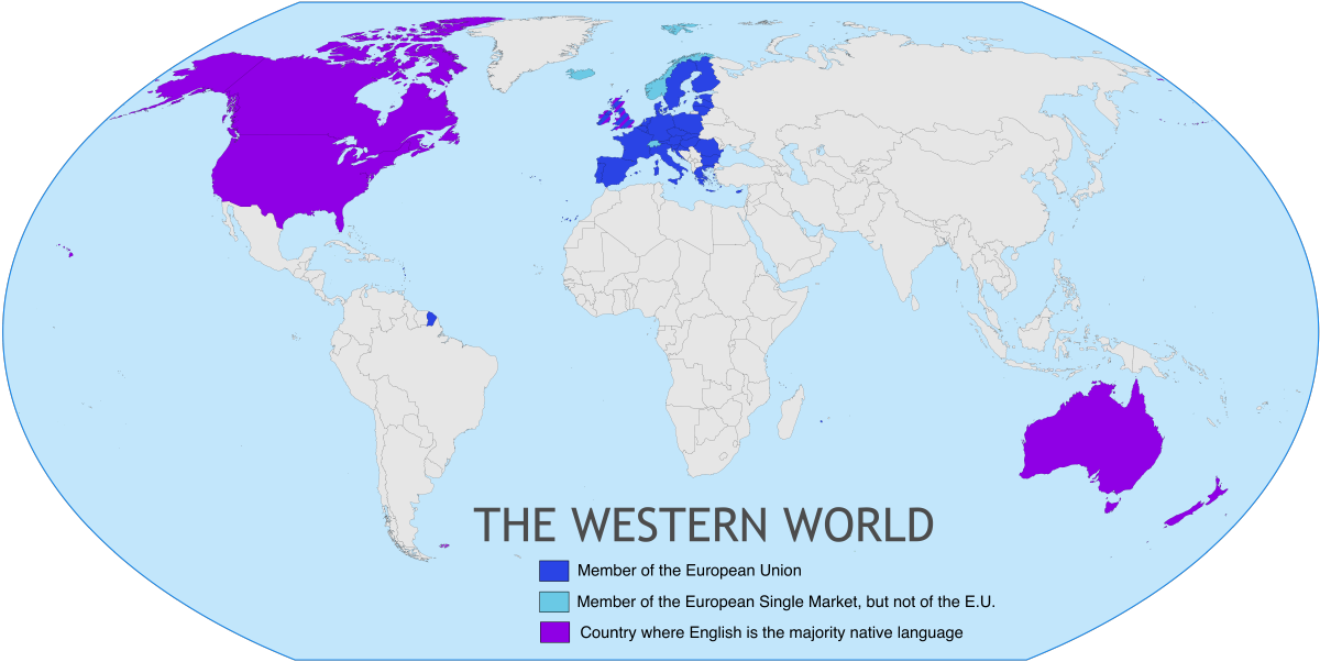 Western World Wikipedia: define contemporary country
