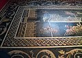 The restored Circus Games Mosaic depicting a chariot race in quadrigas, 2nd century AD, from Lugdunum, Musée gallo-romain de Fourvière, Lyon (9194365396).jpg