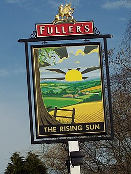 The sign for the Rising Sun, Milland - geograph.org.uk - 350971