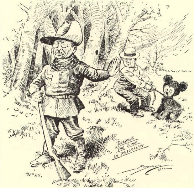 vignetta di Roosvelt e del Teddy Bear