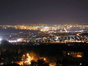 salonika at nite from panorama