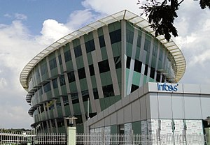 Infosys - A building in Thiruvananthapuram campus