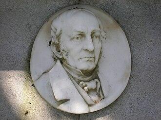 Thomas O. Larkin - Thomas O. Larkin grave relief at Cypress Lawn Memorial Park