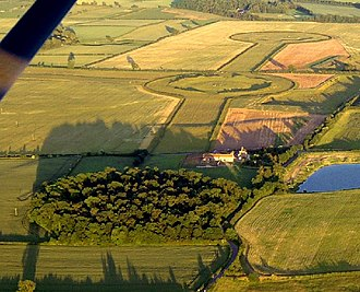 Henge - The three aligned henges of the Thornborough Henges complex