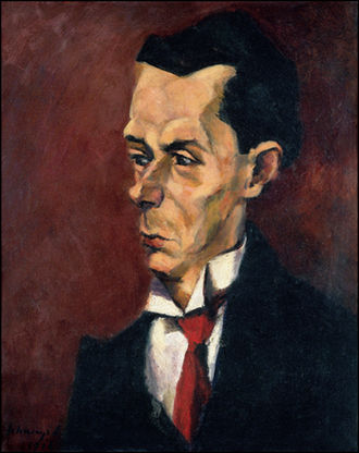 Critic - Critic by Lajos Tihanyi. Oil on canvas, c.1916.