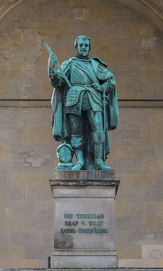 Johann Tserclaes, Count of Tilly - Bronze statue of Count Tilly in the Feldherrnhalle on Odeonsplatz in Munich