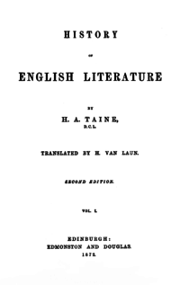 essay on history of english literature English literature - the romantic period: as a term to cover the most distinctive writers who flourished in the last years of the 18th century and the first decades.