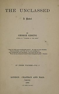 <i>The Unclassed</i> novel by George Gissing