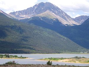 Sawatch Range - Sawatch Range near Twin Lakes.