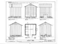 Tobacco Barn - Elevations Floor Plan and Section - Dudley Farm, Farmhouse and Outbuildings, 18730 West Newberry Road, Newberry, Alachua County, FL HABS FL-565 (sheet 22 of 22).png