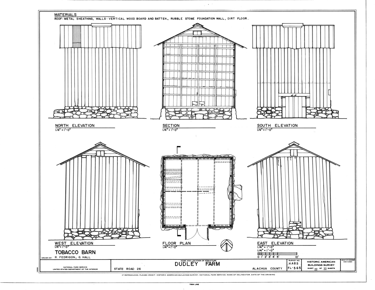 File Tobacco Barn Elevations Floor Plan And Section