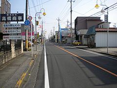Tochigi prefectural road No.61 on Haga town.jpg