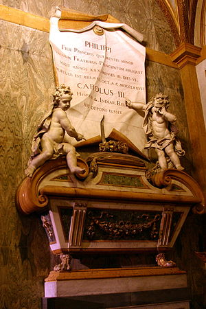 Infante Philip, Duke of Calabria - Tomb of Philip in Basilica of Santa Chiara.
