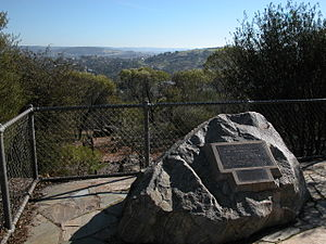 Toodyay, Western Australia - Memorial to James Drummond, botanist, in Pelham Reserve, overlooking the Toodyay townsite