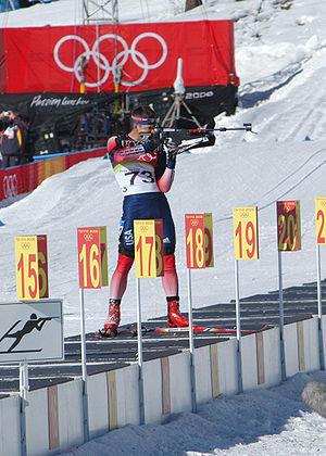 Jeremy Teela in the biathlon