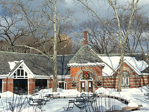 Tavern on the Green - Tavern on the Green patio after reopening, December 2010