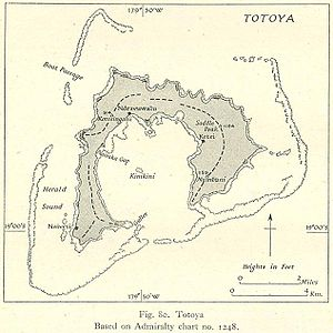 Totoya - Chart of Totoya from 1944