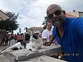 Tourist(Selfie) with cat.JPG