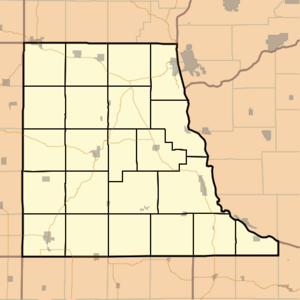 Townships im Clayton County Iowa.png