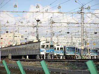 Tokyo Metro Tōzai Line - Lineup of Tōzai Line trains at Fukagawa Depot, September 2005