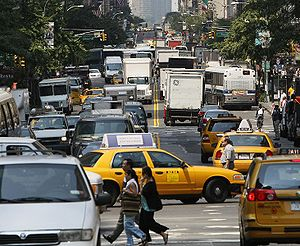 Rush hour in Manhattan, New York City