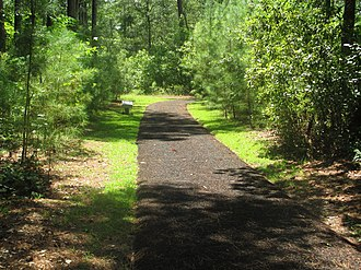 """Moores Creek National Battlefield - A padded trail covers most of Moores Creek National Battlefield and an extension known as the """"Tarhill Trail"""" in a forested area known for tar production."""