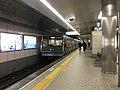 Train for Suminoe-Koen Station leaving from Tamade Station 2.jpg