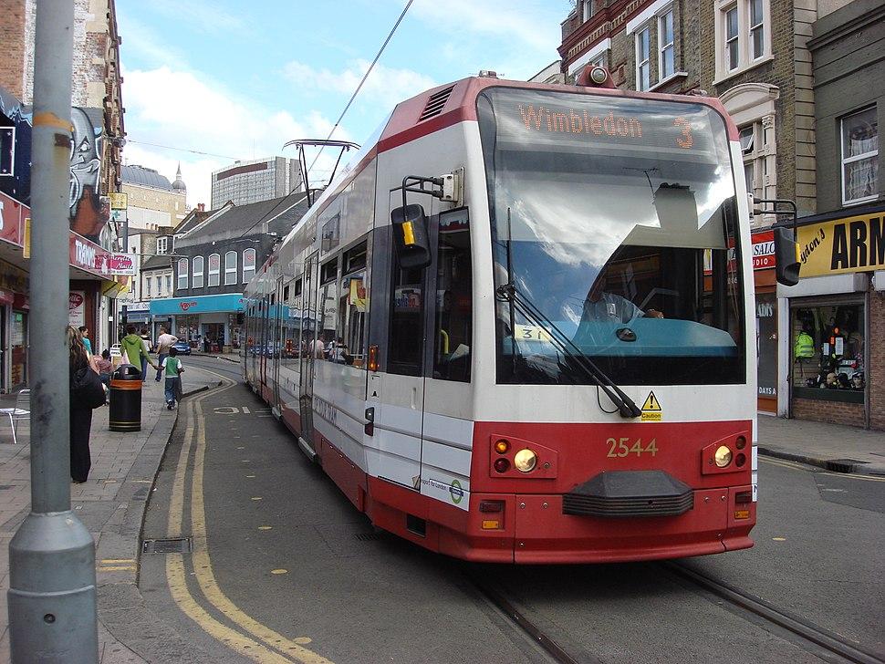 Tram 2544 at Church Street