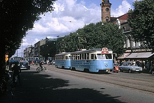 Gothenburg tram network - Tram in Gothenburgh 1963, before the switch to right-hand drive