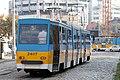 Tram in Sofia near Russian monument 013.jpg