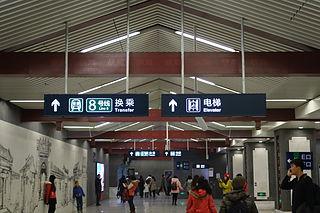 Nanluogu Xiang station Beijing Subway station