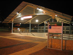 Maylands railway station - Image: Transperth Maylands Train Station