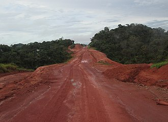 Trans-Amazonian Highway - An unpaved portion of the highway, taken between Rurópolis and Uruará.
