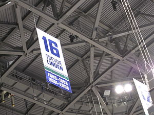 Trevor Linden - Trevor Linden's number 16, along with Stan Smyl's number 12, Markus Näslund's number 19 and Pavel Bure's number 10 are the only four retired jersey numbers in Vancouver Canucks history.