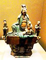 Tri-coloured Guan Yin (Avalokitesvara). Qing Dynasty. Shaanxi History Museum.jpg