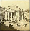 Trieste Trst oko 1880. Pazza della Borsa con la statua di Carlo VI..jpg