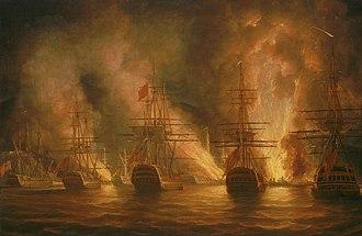 Invasion of Trinidad (1797) - The Capture of Trinidad, 17 February 1797 by Nicholas Pocock