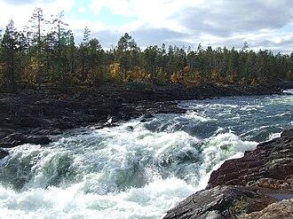Pite River - The Pite River at Trollforsen in September 2010