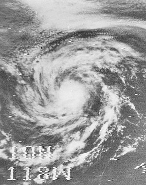 1969 Pacific hurricane season - Image: Tropical Storm Heather 1969