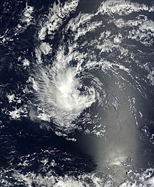 A satellite image depicting the remnants of a previous tropical cyclone.