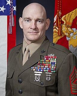Troy E. Black 19th Sergeant Major of the Marine Corps