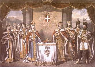 Lazarević dynasty - Tsar Lazar and his family, 1860.