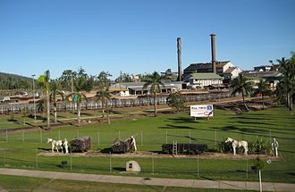 Golden Gumboot - The view of Tully Sugar Mill from the top of the Golden Gumboot