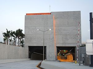 Port Miami Tunnel - Watson Island entrance