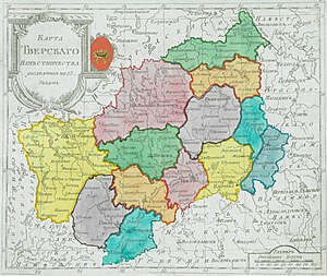 Tver Viceroyalty - Tver Viceroyalty in 1792