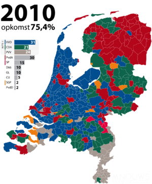 Dutch general election, 2010 - Image: Tweede Kamerverkiezingen 2010