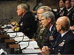 U.S. Air Force Chief of Staff Gen. Norton A. Schwartz, second from right, testifies before the Senate Armed Services Committee during a hearing at the Dirksen Senate Office Building in Washington, D.C., Dec 101203-F-EK235-672.jpg