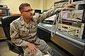 U.S. Air Force Senior Airman Christopher Guhl, a precision measurement equipment laboratory technician with the 379th Expeditionary Maintenance Squadron, performs an audio calibration on a measuring receiver 140225-F-EN483-036.jpg