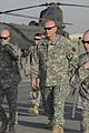 U.S. Army Gen. Raymond Odierno, commanding general of United States Forces-Iraq, arrives at Sather Air Force Base, Iraq, to greet Vice President Joe Biden Aug. 30, 2010 100830-A-KU527-019.jpg